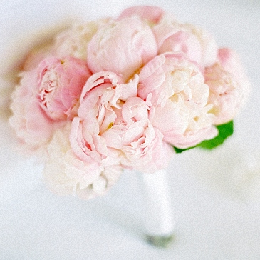 Bouquet with blush Peonies
