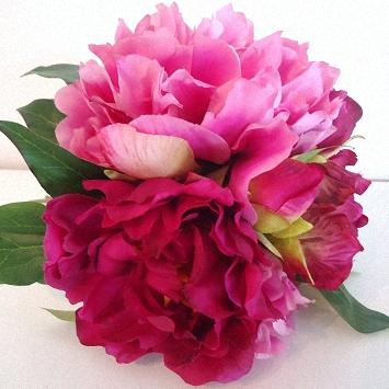 Fuchsia & pink, a two tone Peony bouquet