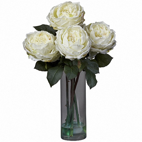 Vase Gift with Patience ® Garden Rose